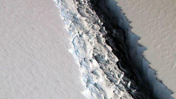 Тришина в леднике Ларсена