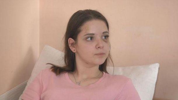 Потерпевшая школьница Полина Малоштан