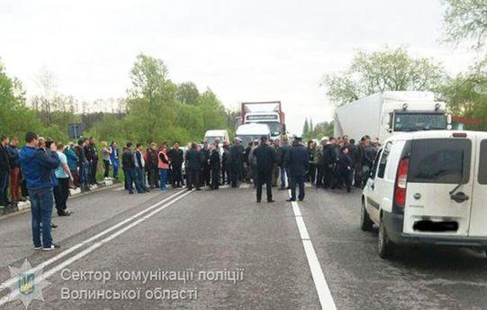 На Волыни перекрыта трасса Киев-Ковель-Ягодин