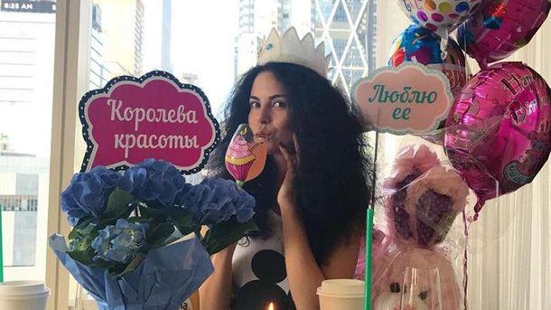Настя Каменских нескромно праздновала день рождения