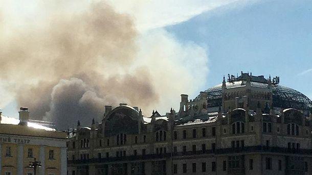 В Москве вспыхнул пожар