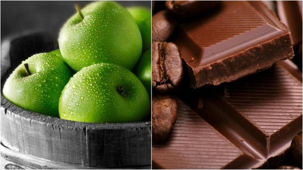 Яблука та шоколад