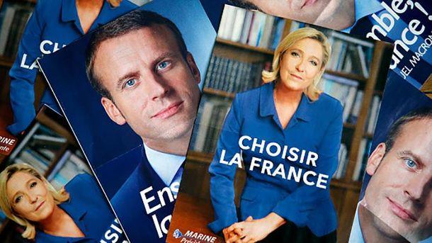 7 травня французи обиратимуть між Еммануелем Макроном і Марін Ле Пен