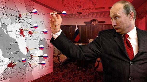 Карикатура на Володимира Путіна