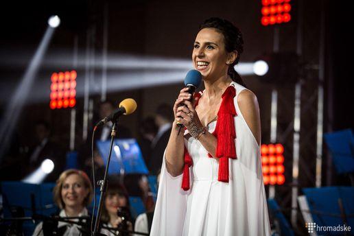 Джамала на церемонии открытия Евровидения-2017