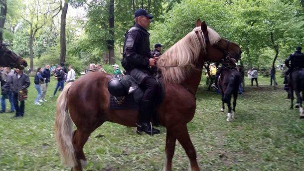 Конная полиция в Киеве