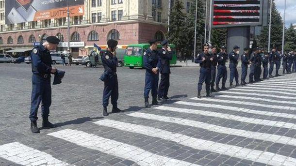 Полиция перекрыла доступ к площади Свободы в Харькове