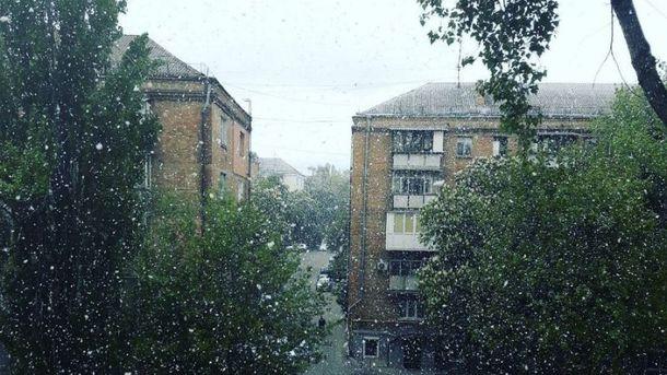 10 мая в Киеве выпал снег