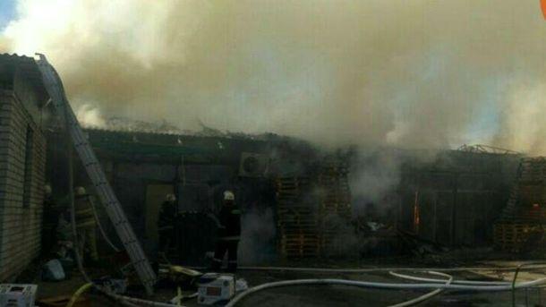 Пожар на Дарницком рынке