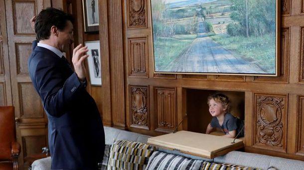 Джастин Трюдо и его сын Адриан