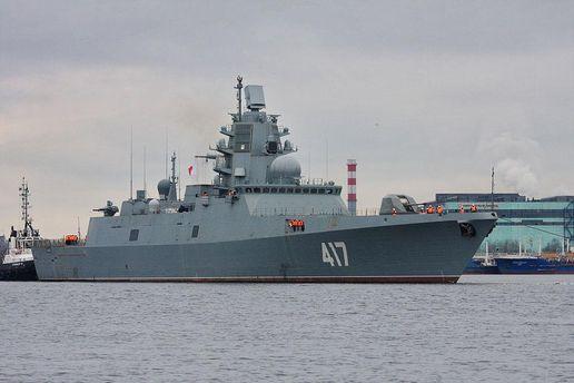 Российские военные корабли на Балтийском море