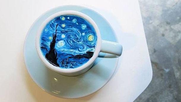 Кофе с известным рисунком