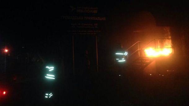 Ночью на Днепропетровщине горело сразу два офиса
