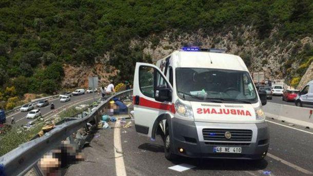 Смертельная аварии с туристами в Турции