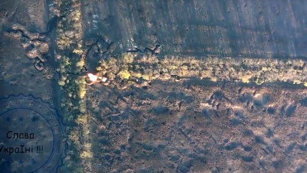 Бойцы уничтожив боекомплект минометов террористов