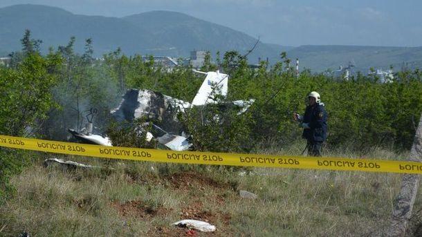 Место авиакатастрофы в Боснии и Герцеговине