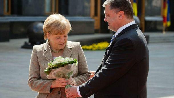 Встреча Порошенко и Меркель