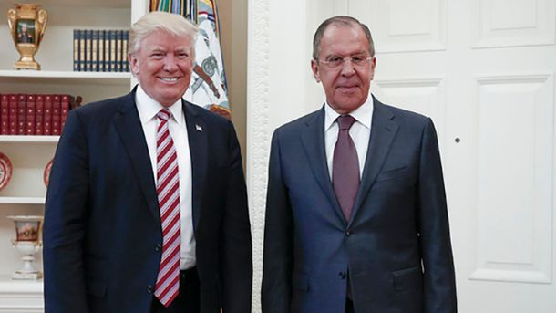 Дональд Трамп і Сергій Лавров