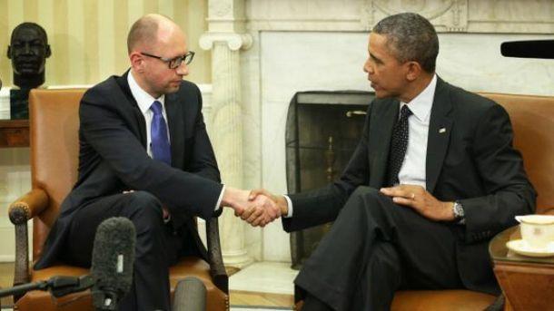 Яценюк встречался с Обамой, когда был премьером