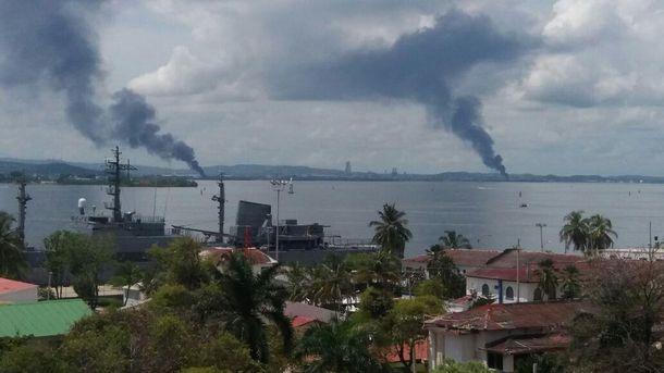 Взрыв в порту Колумбии
