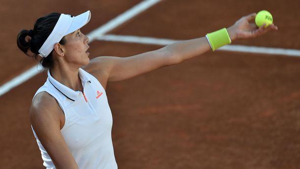 Элина Свитолина в матче против Гарбинье Мугурусы