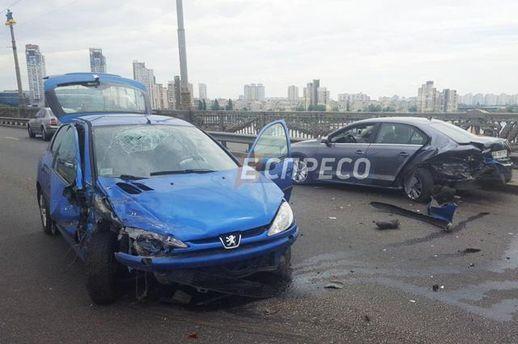 Фото аварии на мосту Патона в Киеве