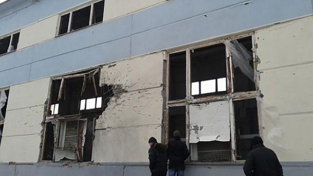 Донецкая фильтровальная станция после обстрела