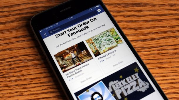 В Facebook можно заказать еду