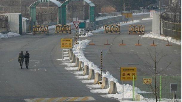 Граница между Южной и Северной Кореей