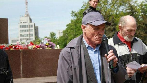 Юрий Апухтин на сепаратистском митинге в Харькове
