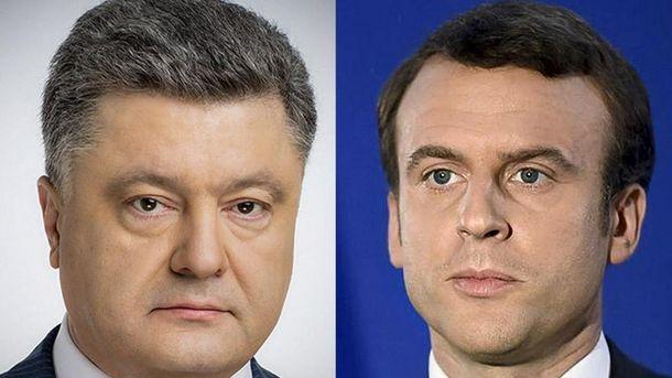 Петр Порошенко провел разговор с Эмманюэлем Макроном