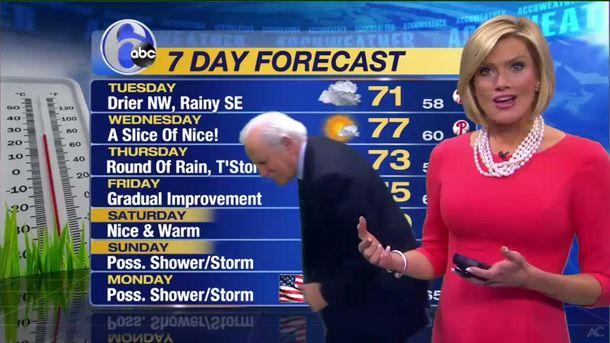 Курйозна ситуація в ефірі прогнозу погоди