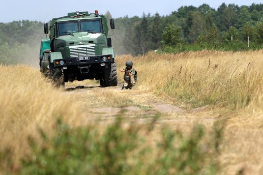 Украинские бойцы на тренировках