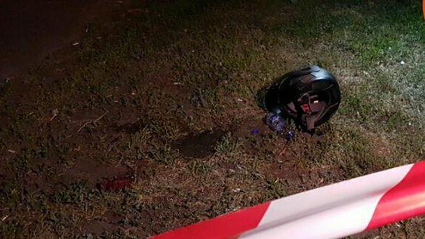 Расстрел мотоциклиста в Киеве: место убийства