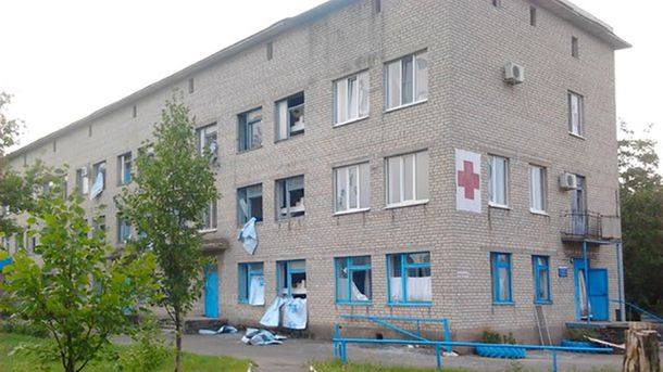 Обстріляна лікарня на Донбасі (ілюстрація)