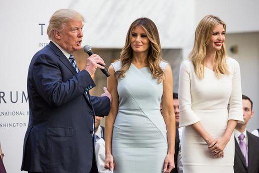 Трампа не случайно часто сопровождают Мелания и Иванка