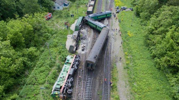 Столкновение поездов в Хмельницкой области