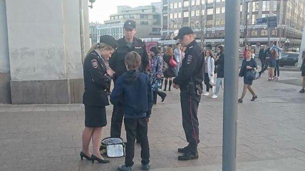 Гучне затримання хлопчика у Москві