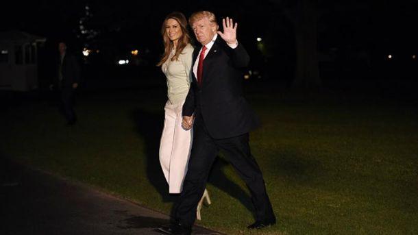 Дональд Трамп вернулся из первого заграничного турне