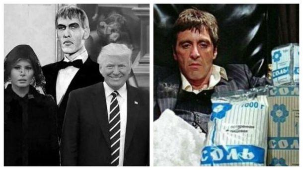 Самые смешные мемы недели: семейка Трампов и Папа, дома украинских коррупционеров завалены солью