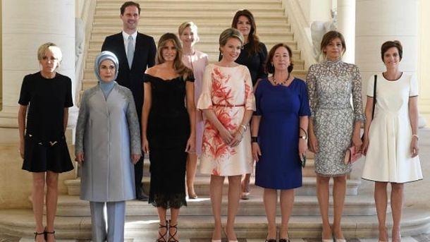 Перші леді та перший джентльмен на саміті країн НАТО