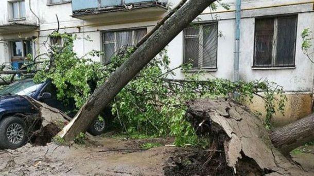 Мощный ураган в Москве