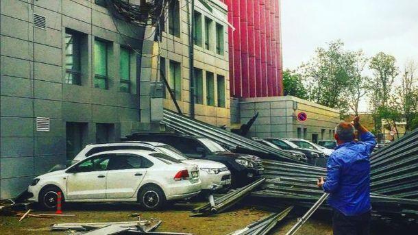 Наслідки потужного урагану в Москві