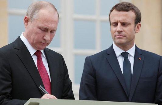 Володимир Путін і Еммануель Макрон