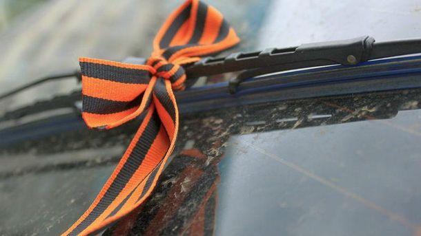 В Празі таксист  роз'їжджав з георгіївською стрічкою