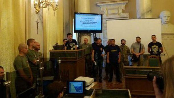 Националисты захватили Львовский областной совет