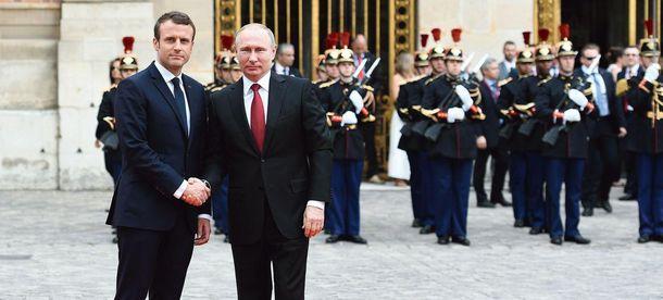 Встреча Макрона и Путина в Версале