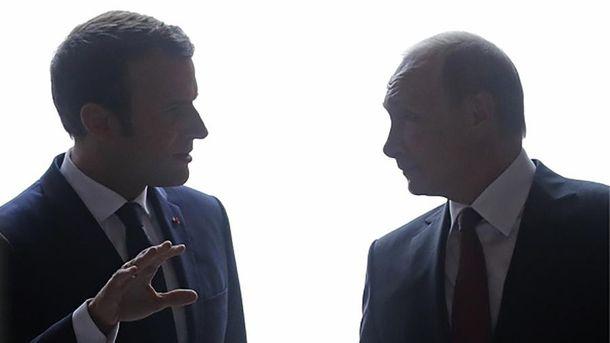 Зустріч Путіна з Макроном