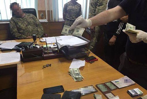 Военный комиссар с Харьковщины попался на взятке