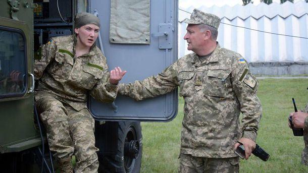 Надежда Савченко в военной форме